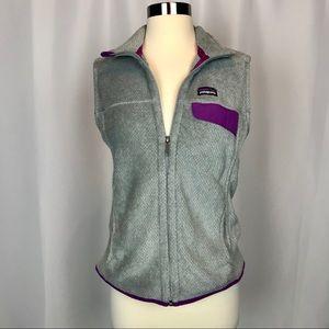 Patagonia Full Zip Re-tool Fleece Vest